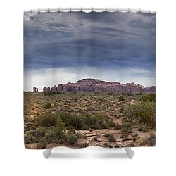 Panoramic View At Arches National Park Shower Curtain