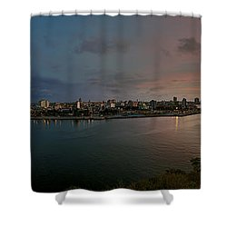 Panoramic View Of Havana From La Cabana. Cuba Shower Curtain