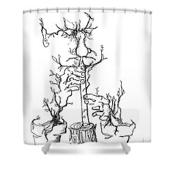 Pan's Fried Flute Shower Curtain