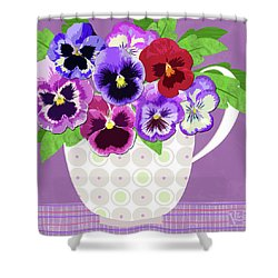 Pansies Stand For Thoughts Shower Curtain