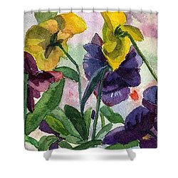 Pansy Field Shower Curtain
