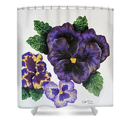 Pansy Shower Curtain