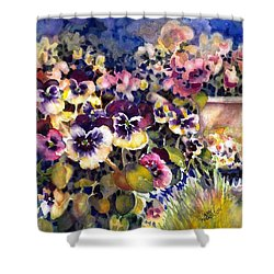 Pansy Garden Shower Curtain