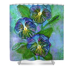 Pansy On Water Shower Curtain