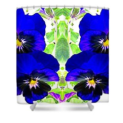 Shower Curtain featuring the photograph Pansy Pattern by Marianne Dow