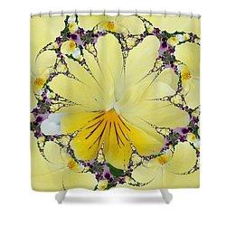Pansy Swirls Shower Curtain