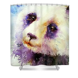 Pansy The Giant Panda Shower Curtain