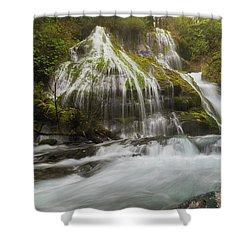 Panther Creek Falls In Fall Season Shower Curtain