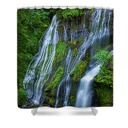 Panther Creek Falls Summer Waterfall 1 Shower Curtain