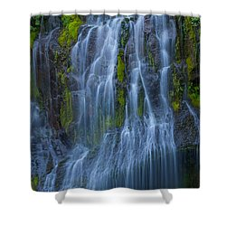 Panther Creek Falls Summer Waterfall -close 2 Shower Curtain