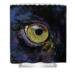 Panther Eye Shower Curtain by Michael Creese