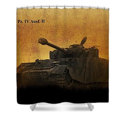 Panzer 4 Ausf H Shower Curtain by John Wills