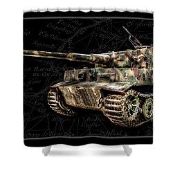 Panzer Tiger I Side Bk Bg Shower Curtain