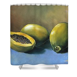 Papaya Shower Curtain by Han Choi - Printscapes