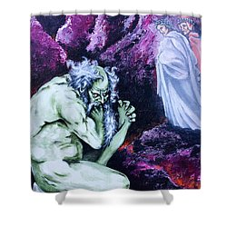 Pape Satan Aleppe Shower Curtain by Victor Minca