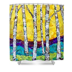 Paper Birch 2 Shower Curtain