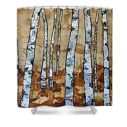 Paper Birch 3 Shower Curtain