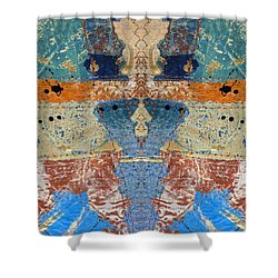 Paper Collage Kaleidoscope 2 Shower Curtain