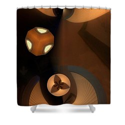 Paper Lamps Shower Curtain by Ron Bissett