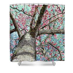 Paper Magnolias Shower Curtain by Shawna Rowe