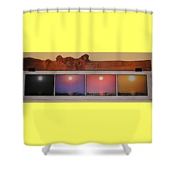 Paper Sun Shower Curtain by John Wartman