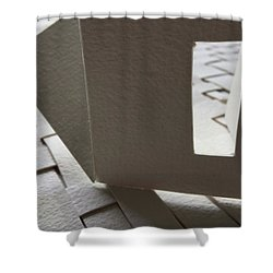 Paper Structure-3 Shower Curtain