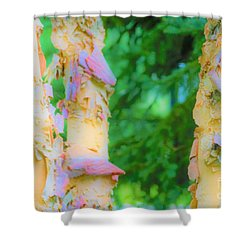 Paper Thin Bark Shower Curtain