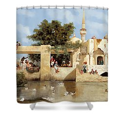 Papere E Cane Shower Curtain