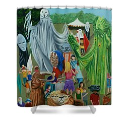 Paperhand Puppet Parade Shower Curtain