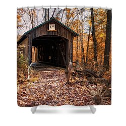 Pappy Hayes Covered Bridge Shower Curtain by Tom Mc Nemar