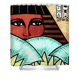 Papyrus Girl Shower Curtain
