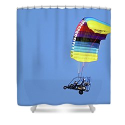 Para Cycle Shower Curtain by Brook Burling
