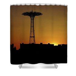 Parachute Jump Coney Island Shower Curtain
