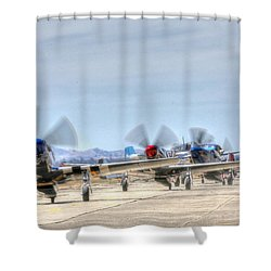 Parade Of Mustangs Shower Curtain