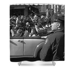 Parade Security Shower Curtain by Clarence Holmes