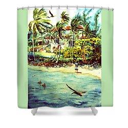 Paradise At Dorado Puerto Rico Shower Curtain by Estela Robles