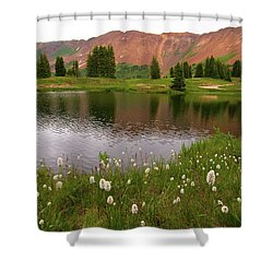 Shower Curtain featuring the photograph Paradise Basin by Steve Stuller