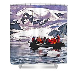 Paradise Bay  Shower Curtain by Dennis Cox