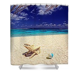 Paradise Beach Ball Shower Curtain