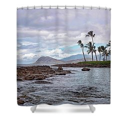 Shower Curtain featuring the photograph Paradise Cove Lagoon by Heather Applegate