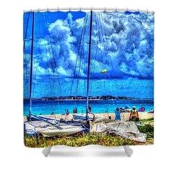 Paradise Shower Curtain by Debbi Granruth