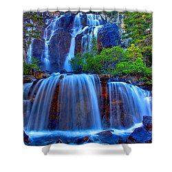 Paradise Falls Shower Curtain by Scott Mahon