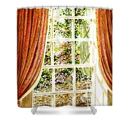 Paradise House In Bath England Shower Curtain