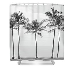 Paradise In Black And White II Shower Curtain