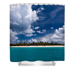 Paradise Is Sandy Cay Shower Curtain