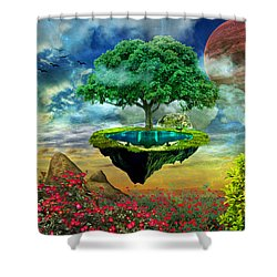 Paradise Island Shower Curtain by Ally White