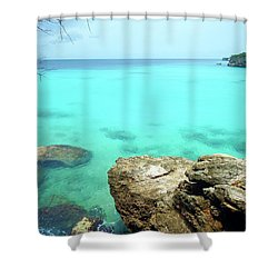 Shower Curtain featuring the photograph Paradise Island, Curacao by Kurt Van Wagner