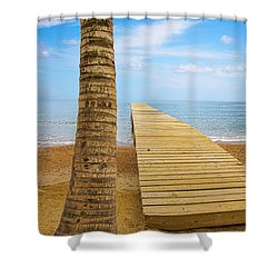 Paradise Shower Curtain by Marlo Horne