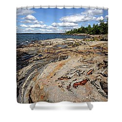Paradise On Wreck Island Shower Curtain