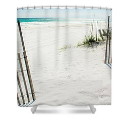 Paradise Scenery Shower Curtain by Shelby  Young